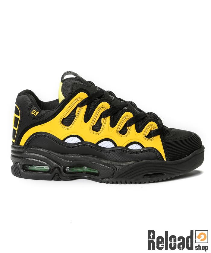 Scarpe Osiris D3 black / white / yellow - Reload Shop