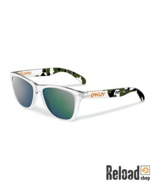 eric-koston-x-oakley-frogskins-sunglasses clear camo emerald iridium